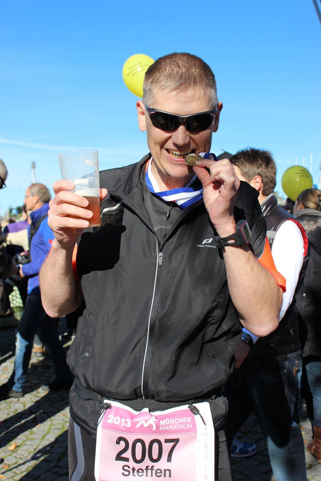 Geschafft! 28. München Marathon