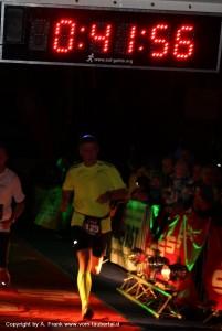 Zieleinlauf Steffen Frank 7. Rothenburger Lichterlauf