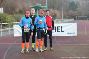 Ronny, ich, Armin und René kurz nach dem Zieleinlauf