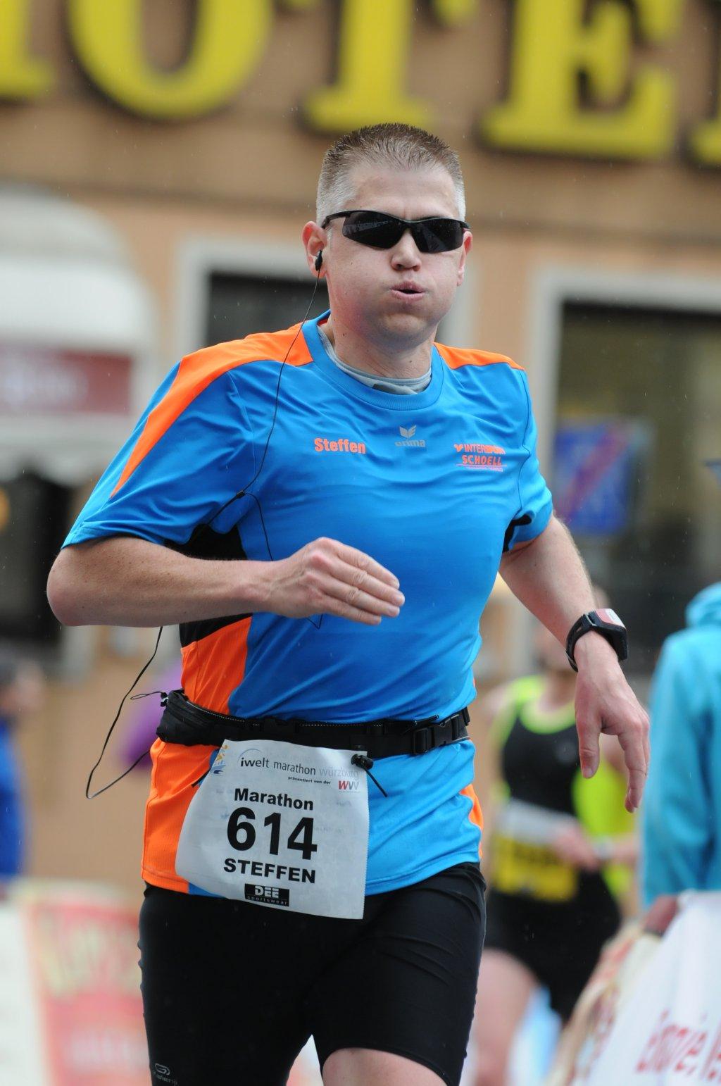 So dicke Backen mach ich bei km 42,1 - iWelt Marathon Würzburg