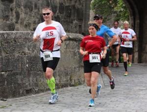 Astrid und ich beim Rothenburger Halbmarathon 2014