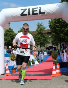 Zieleinlauf Rothenburger Halbmarathon 2014