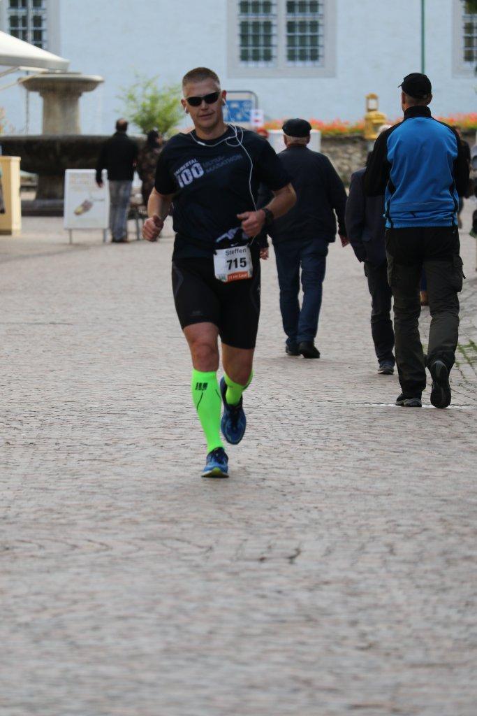 50 km Zwischenziel in Bad Mergentheim - nur noch ein Halbmarathon
