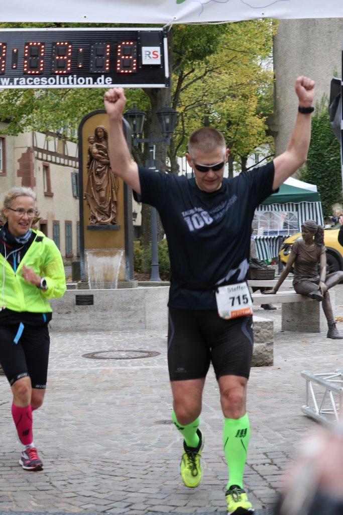 Zieleinlauf in Tauberbischofsheim - 71 km Ultramarathon finished