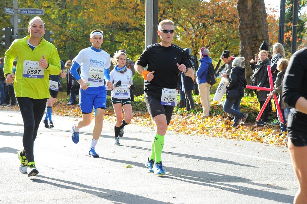 Wunderbares Laufwetter beim 36. Mainova Frankfurt Marathon